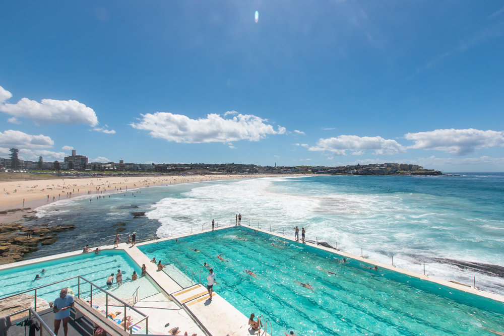 One of the best places to take photos is at Bondi Beach near Sydney