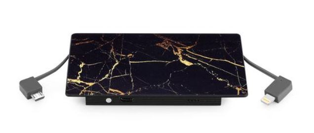 A great battery pack that is stylish and powerful from Velvet Caviar.