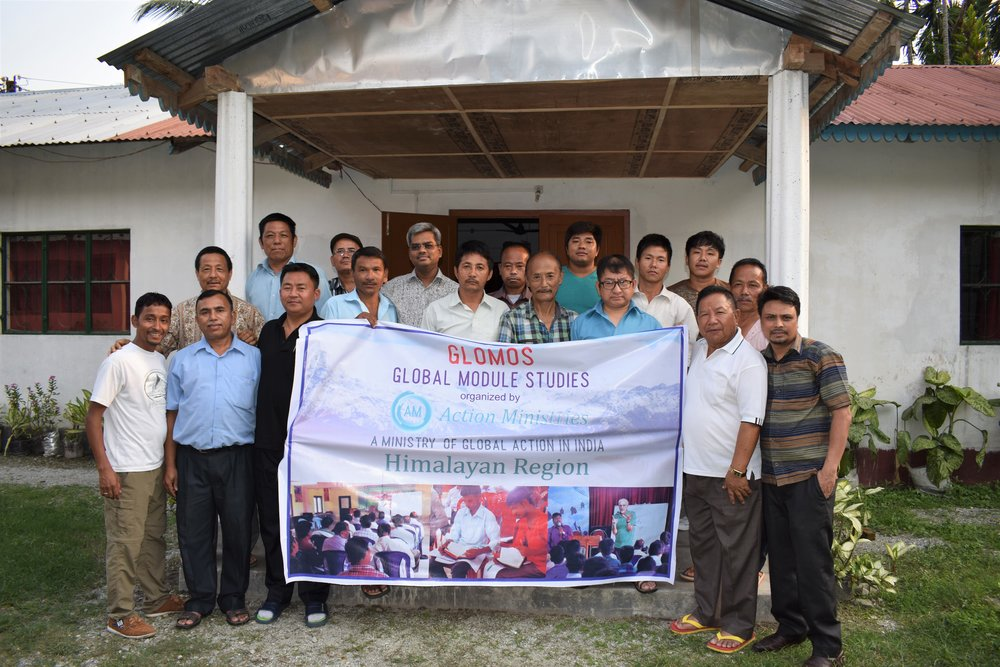 Pastors at the newest Global Action leadership training centres, in Jaigaon - on the Indo-Bhutanese border