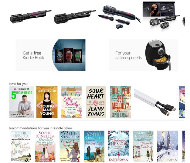 Amazon's aanbevelingen voor de auteur