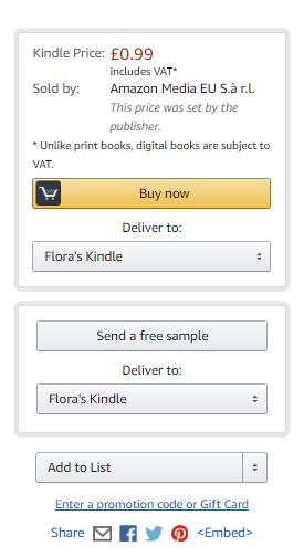 "Amazon - De eenmalige checkout in Kindle ""Koop nu"""