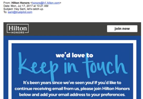 Voorbeeld van een gepersonaliseerde e-mail