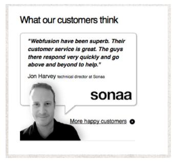 Testimonial voorbeeld Sonaa