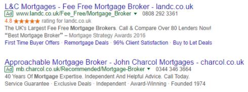 Voorbeeld van Google Seller Ratings