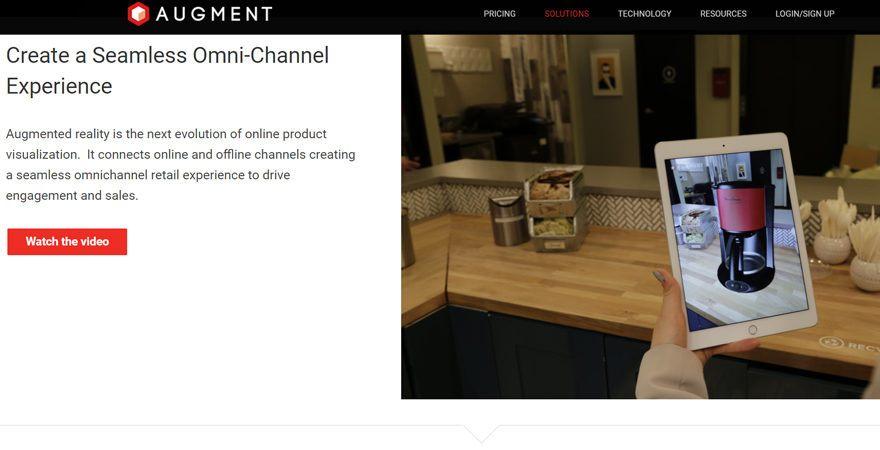 Augment geeft gebruikers de mogelijkheid voor te stellen hoe producten er in hun huis uit zullen zien