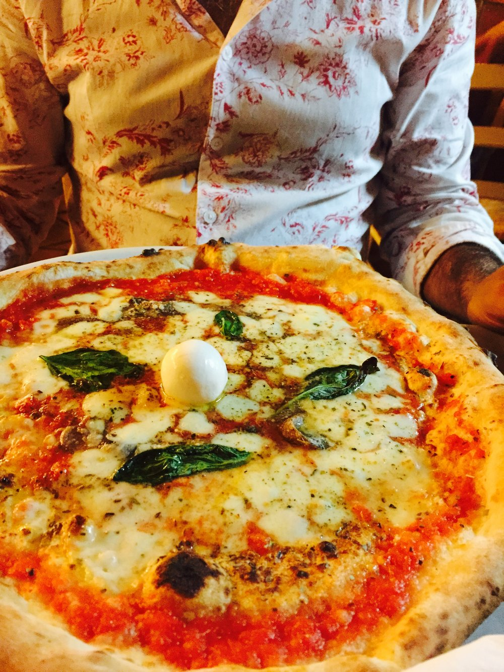 Margarita Pizza with Mozzarella di Bufala at Pizzeria I Decumani in Naples, Italy Photo: Danielle Rehfeld