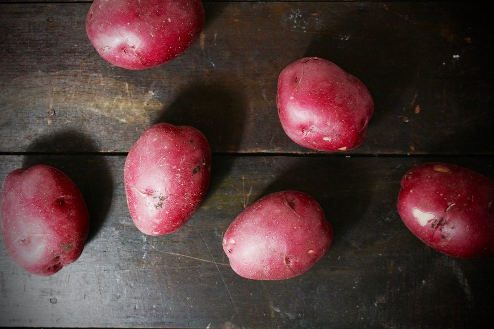 Potatoes were used as the karpas on passover table in eastern europe when poor Jews didn't have green vegetables.
