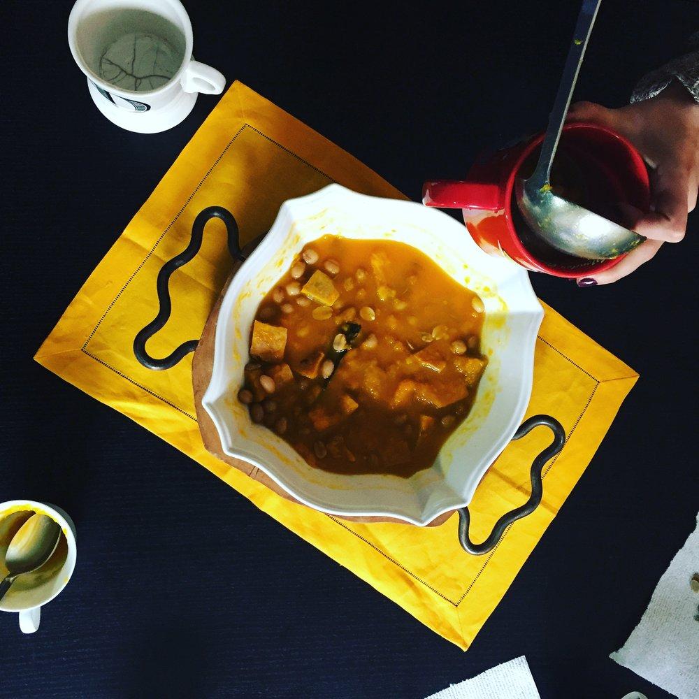 Balbina's Atole De Calabaza or Sweet Pumpkin Soup Photo By: Danielle Rehfeld Colen