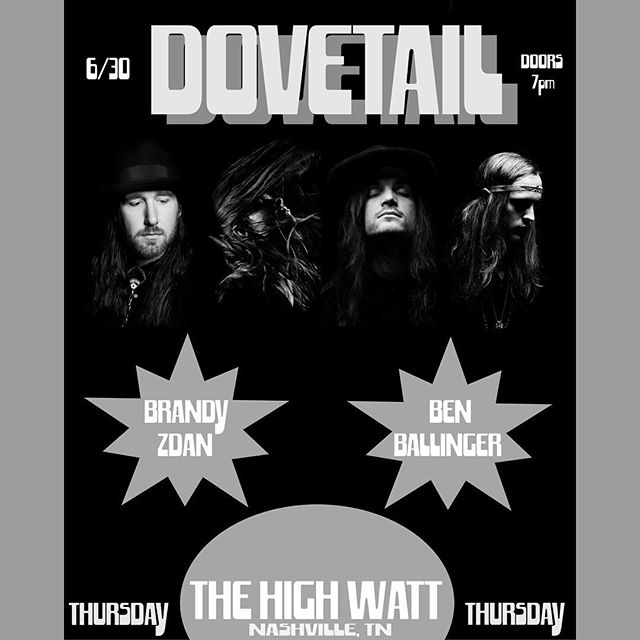 Thursday | The High Watt | 8:30pm | Nashville, TN