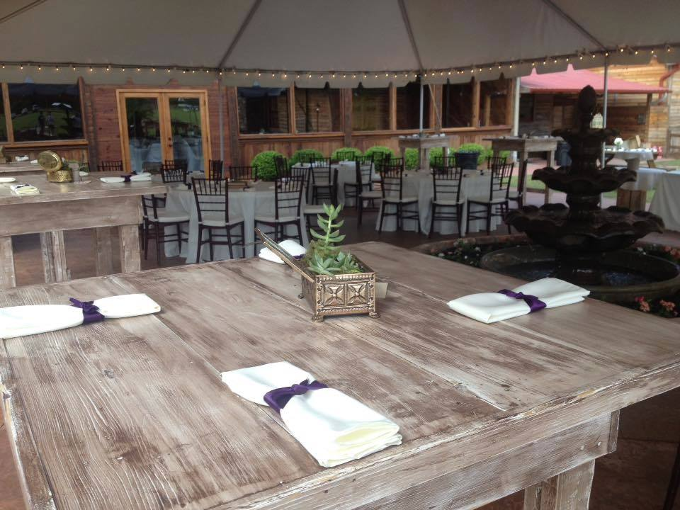 Pocketful of Sunshine Event Design| Full Service Wedding Planning In Columbia, SC | Hidden Acres Cabin: Courtyard And Optional Tent