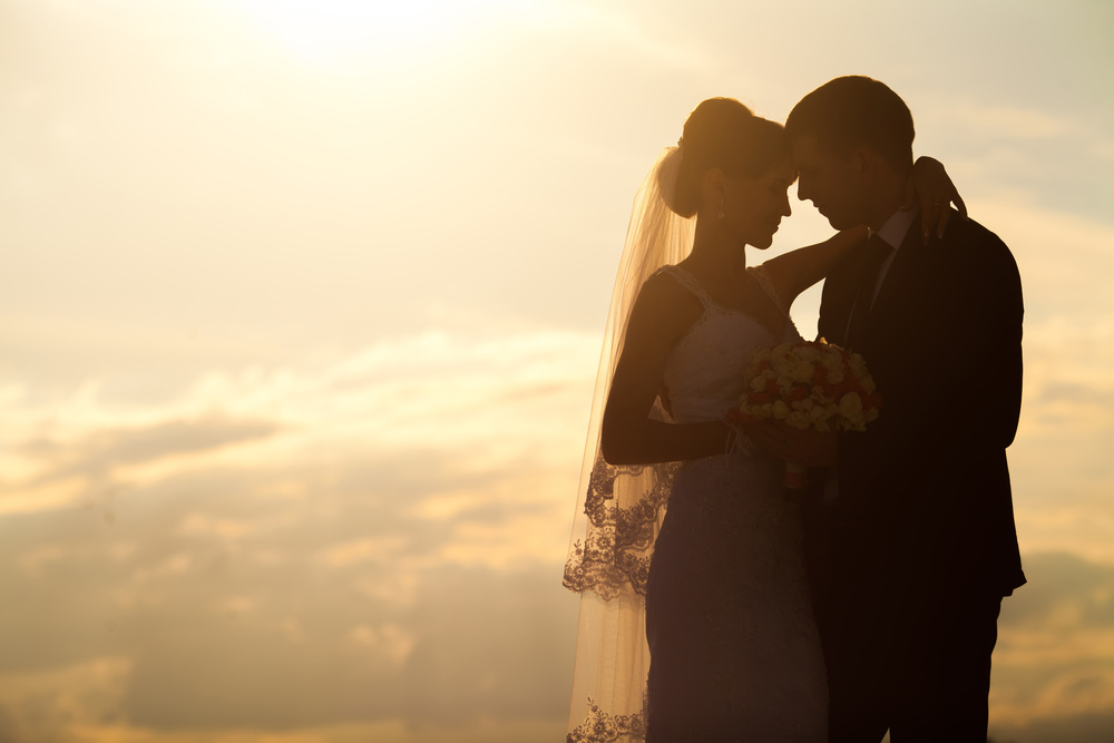 Bride & Groom At Sunset | Pocketful of Sunshine Event Design: Columbia SC