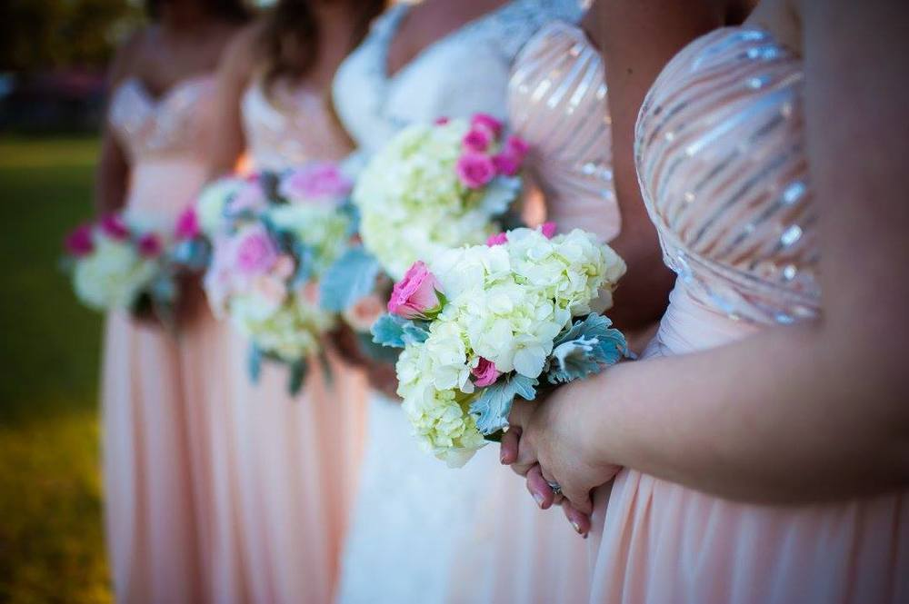 Pocketful of Sunshine Event Design: Columbia, SC | Pretty In Pink Bridesmaids