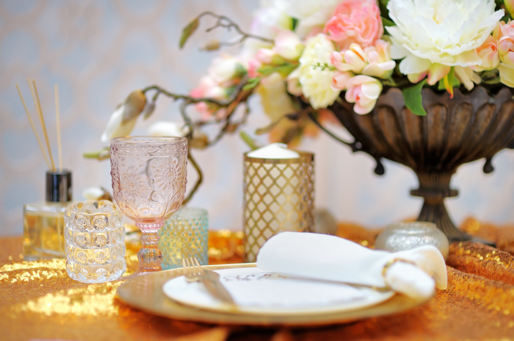 Pocketful of Sunshine Event Design: Columbia, SC | Blush Pink & Gold Tablescape