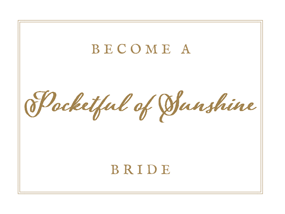 Become A Pocketful of Sunshine Event Design Bride | Full Service Wedding Planning In Columbia, SC