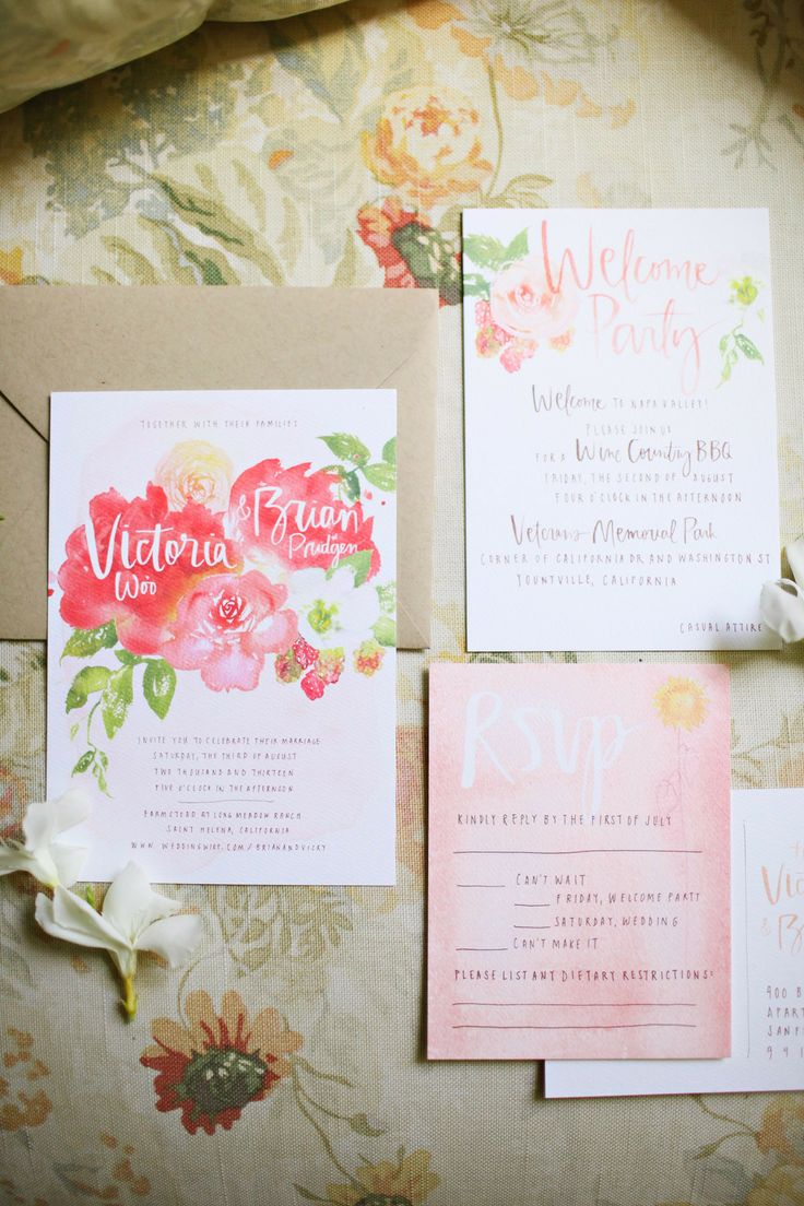 Valley Flora Photography  | via  Style Me Pretty  | Watercolor Wedding Inspiration | Pocketful of Sunshine Event Design | Columbia, SC