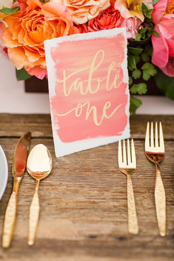 Katelyn James Photography  | Calligraphy by  The Weekend Type  | via  Grey Likes Weddings  | Watercolor Wedding Inspiration | Pocketful of Sunshine Event Design | Columbia, SC