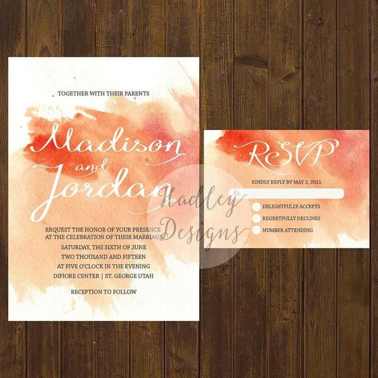 Hadley Custom Designs  | Watercolor Wedding Inspiration | Pocketful of Sunshine Event Design | Columbia, SC