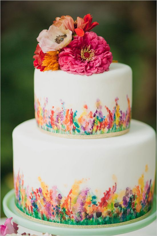 Kate's Photography Lens  |  Cake Life Bake Shop  | via  The Wedding Chicks  | Watercolor Wedding Inspiration | Pocketful of Sunshine Event Design | Columbia, SC