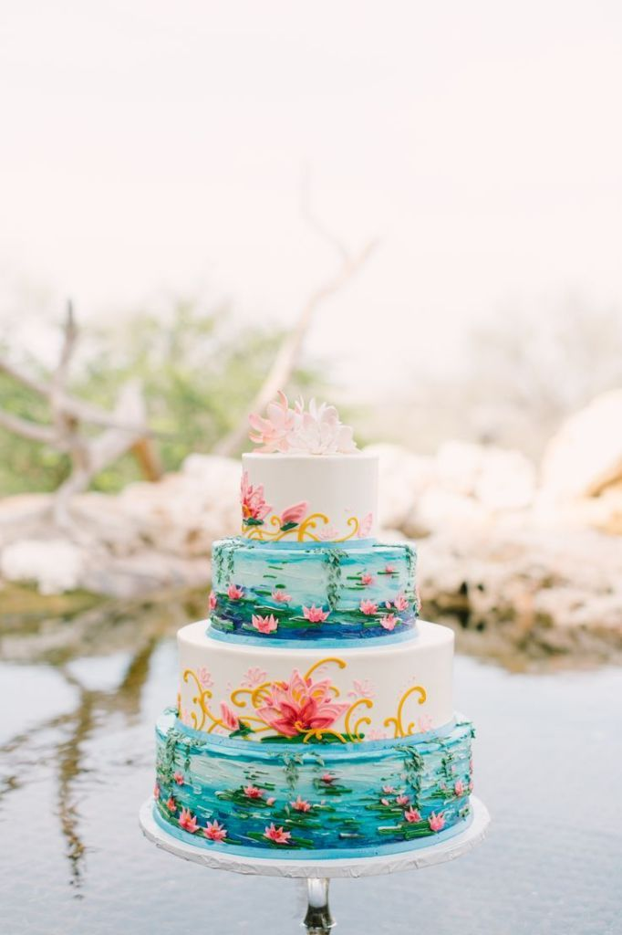 Mint Photography  |  Michelle's Patisserie  | via  Style Me Pretty  | Watercolor Wedding Inspiration | Pocketful of Sunshine Event Design | Columbia, SC