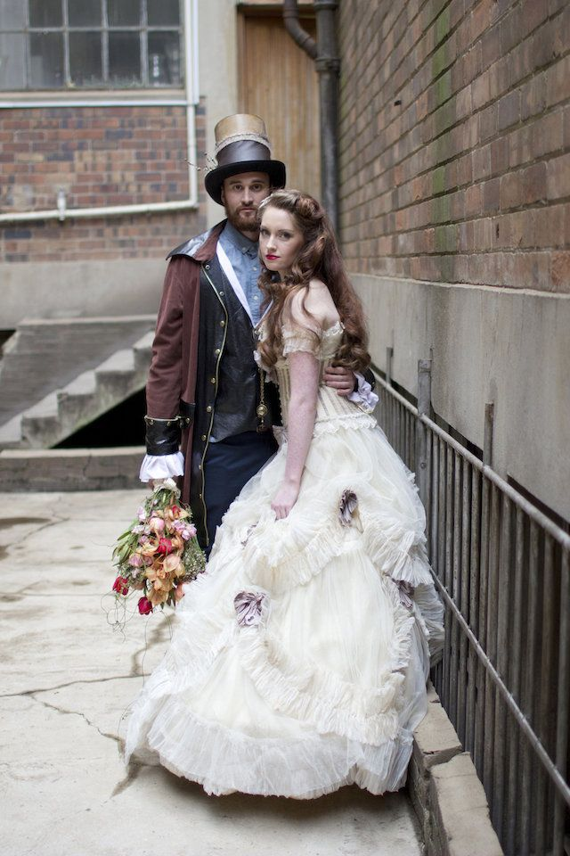 Andre Sonnekus Photography    | via    Burnett's Boards    | Pocketful of Sunshine Event Design Steampunk Wedding Inspiration