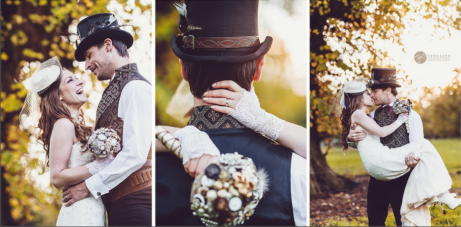 Aga Tomaskzek Photography | Pocketful of Sunshine Event Design Steampunk Wedding Inspiration Blog