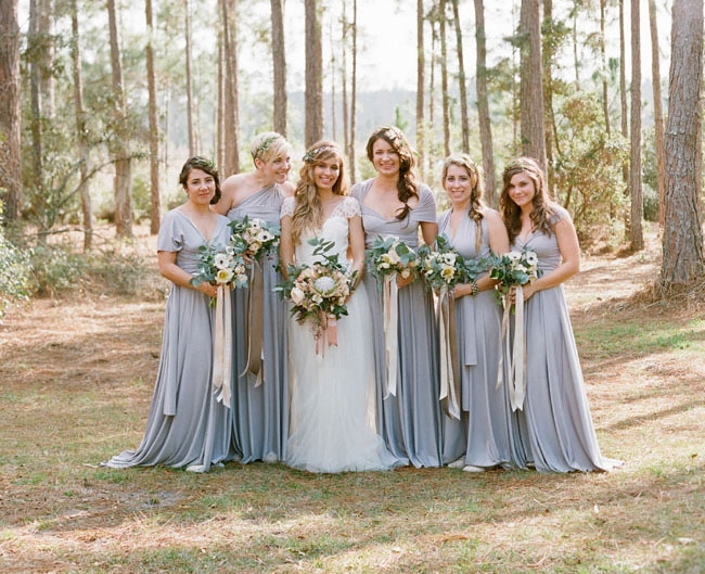 Elizabeth Messina Photography    | via    Green Wedding Shoes  |    Pocketful of Sunshine Event Design Inspiration: Dusty Blue & Cranberry