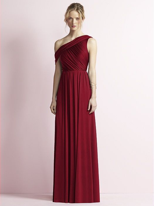 Jenny Yoo Bridesmaid Dress via The Dessy Group  |    Pocketful of Sunshine Event Design Inspiration: Dusty Blue & Cranberry