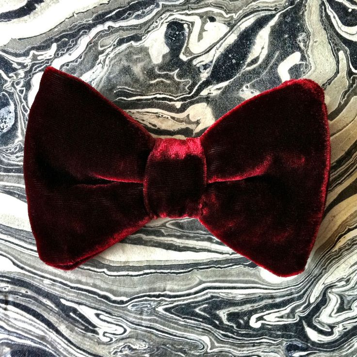 Merlot Bowtie by Boutaugh  |    Pocketful of Sunshine Event Design Inspiration: Dusty Blue & Cranberry