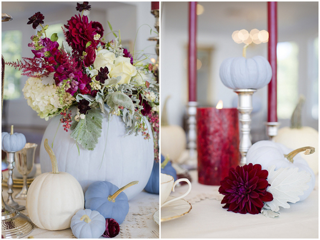 Lisa Price Photography     | via     The Bride Link     | Pocketful of Sunshine Event Design Inspiration: Dusty Blue & Cranberry