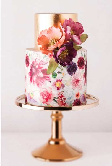 Metallic Cake by Cake Ink | Pocketful of Sunshine Event Design | Full-Service Wedding Planning | Columbia, SC | 2016 Wedding Decor Trends