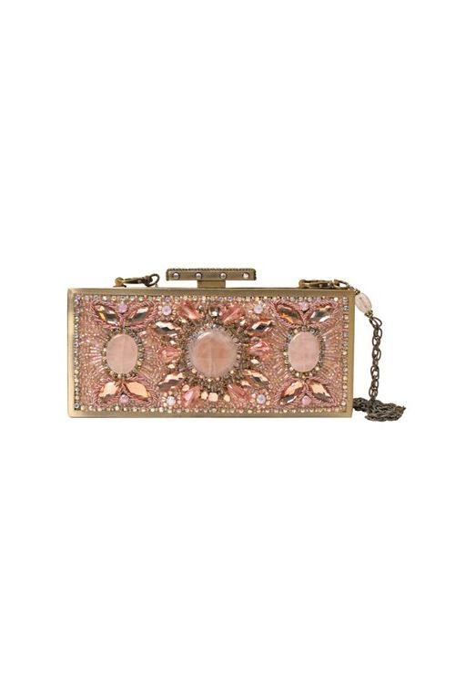 Rose Quartz Clutch by Robin Clayton Designs | Pocketful of Sunshine Event Design | Full-Service Wedding Planning | Columbia, SC | 2016 Colors Of The Year: Rose Quartz & Serenity