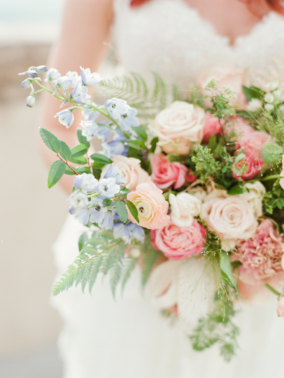 Connie Whitlock Photography via Wedding Sparrow | Pocketful of Sunshine Event Design | Full-Service Wedding Planning | Columbia, SC | 2016 Colors Of The Year: Rose Quartz & Serenity