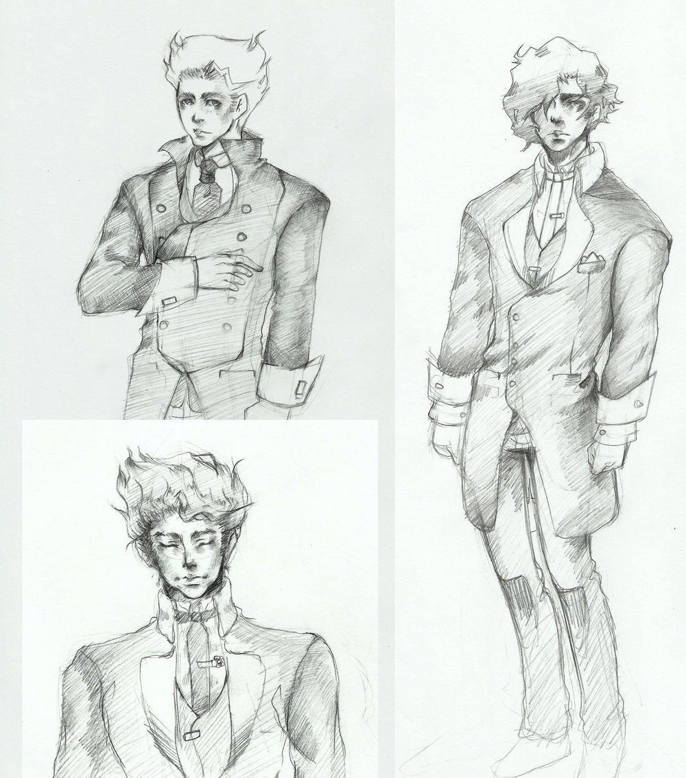 Concepts for Victor's outfits