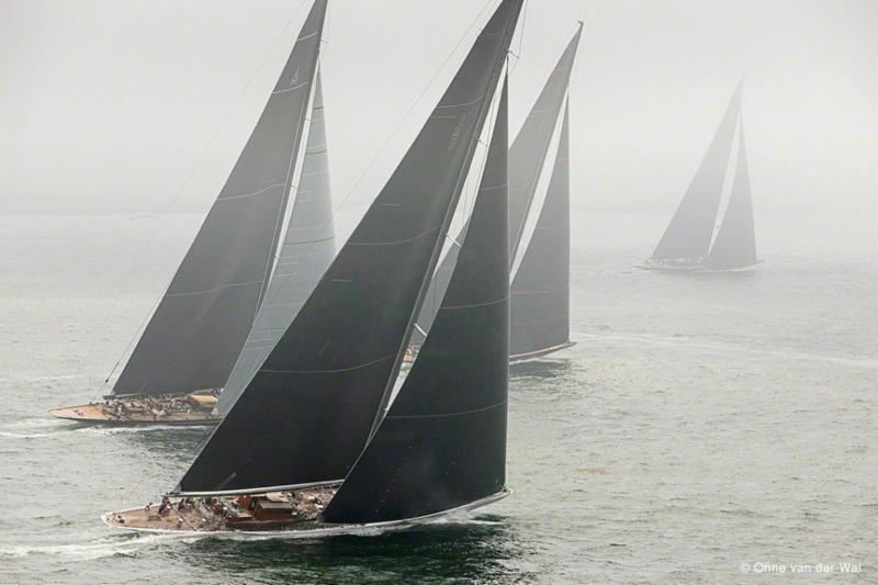 J Class Yachts in Fog by Onne van der Wal