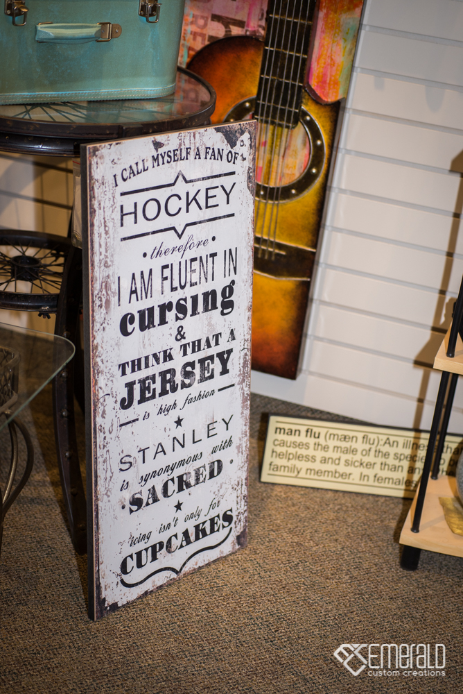 Man Cave - Hockey Sign