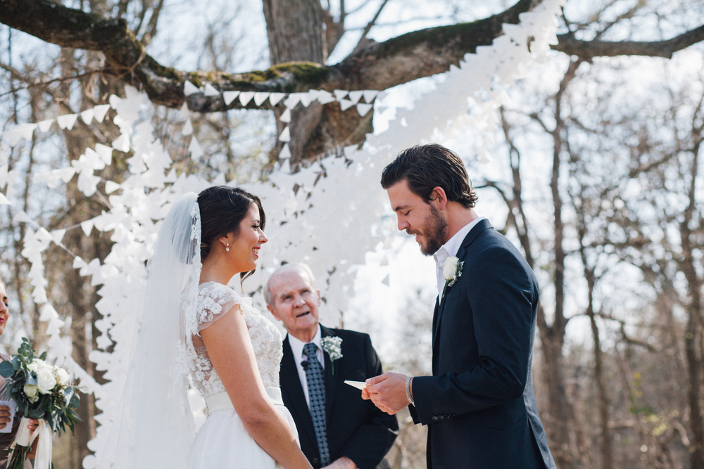 "We didn't do a first look - it was basically never an option for us. When I got to him he kept shaking his head and he said, ""You're so hot.""  I never spent too much time thinking about a wedding before I met Matty, but I did always know that I wanted my Papa to marry us. He's officiated all his children and my cousins so far, and I'm so thankful that Matty and I were added to his little tattered book of couples he's pastored and married."