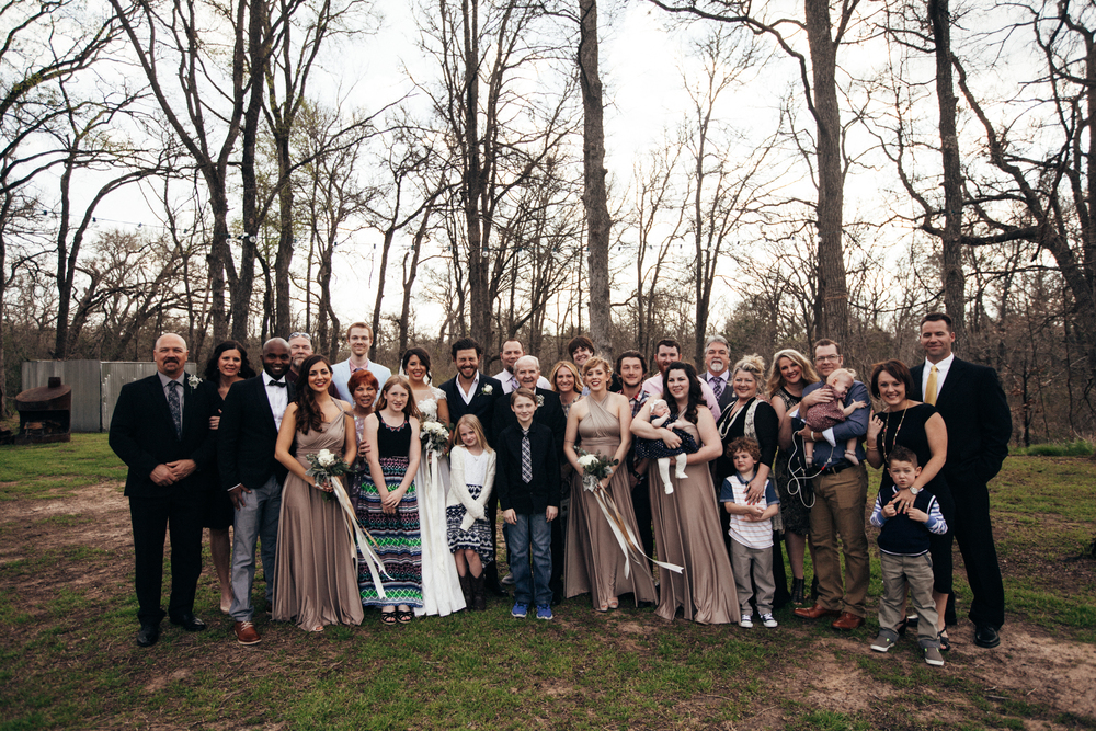 I don't think I realized it until after the wedding, but every single person from my dad's side of the family was out our wedding. We were so thankful to every family member that came because we didn't make it easy. Only one of these people actually lives in Austin and because Matty's family is in Australia, we were quite emotional to see my family open their arms to his parents and siblings like we all belonged to each other. Also, look at Matty's face. That's the result of my cousin, Justin, saying something that I probably shouldn't repeat.