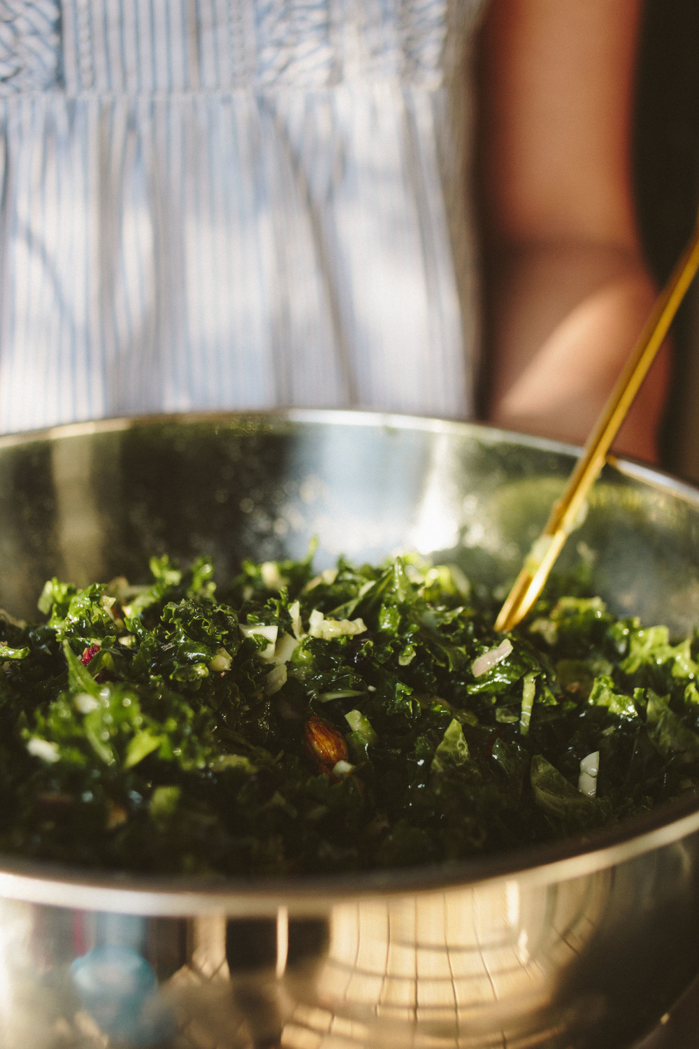 Kale & Brussels Sprout Salad | All the Delights