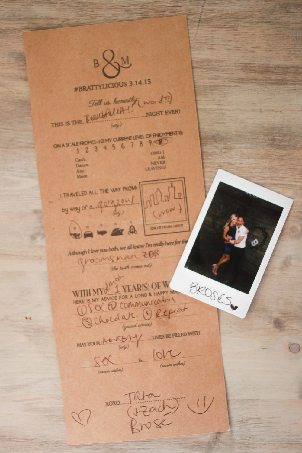 Free Printable: Mad-Lib Survey for Wedding Guests!