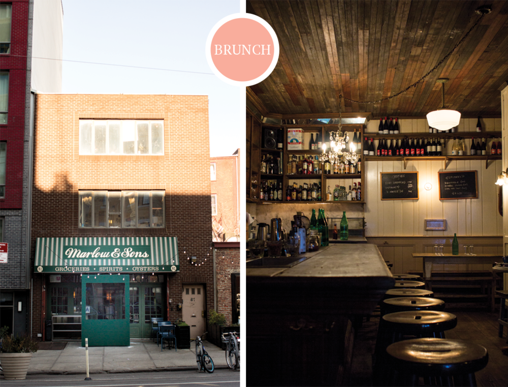 3 NYC Musts from 2 Former New Yorkers: Marlow & Sons Brunch via All the Delights
