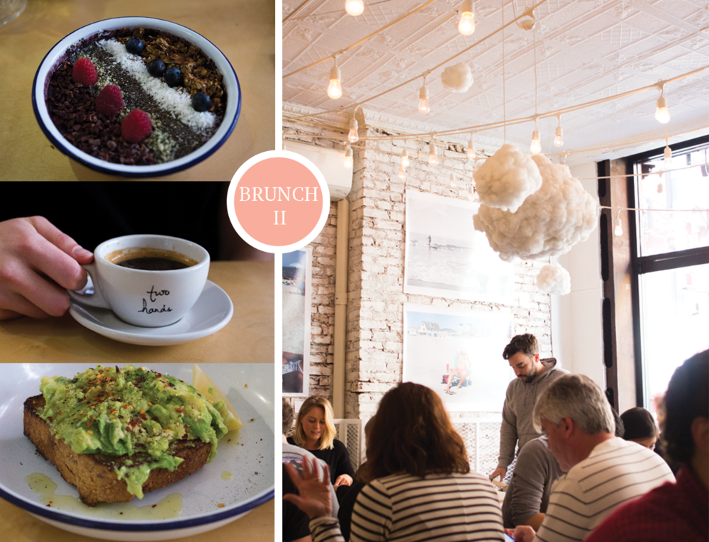 3 NYC Musts from 2 Former New Yorkers: Two Hands Brunch via All the Delights