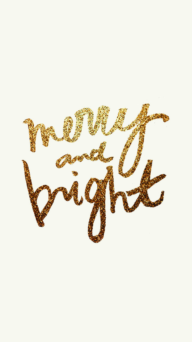 Merry & Bright Phone Wallpaper by allthedelights.com
