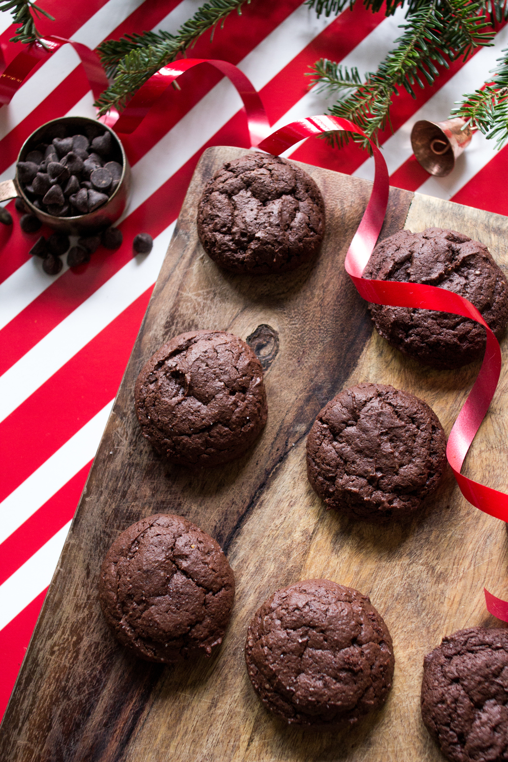 Peppermint Cocoa Cookies (Paleo, GF, Dairy-Free) via allthedelights.com