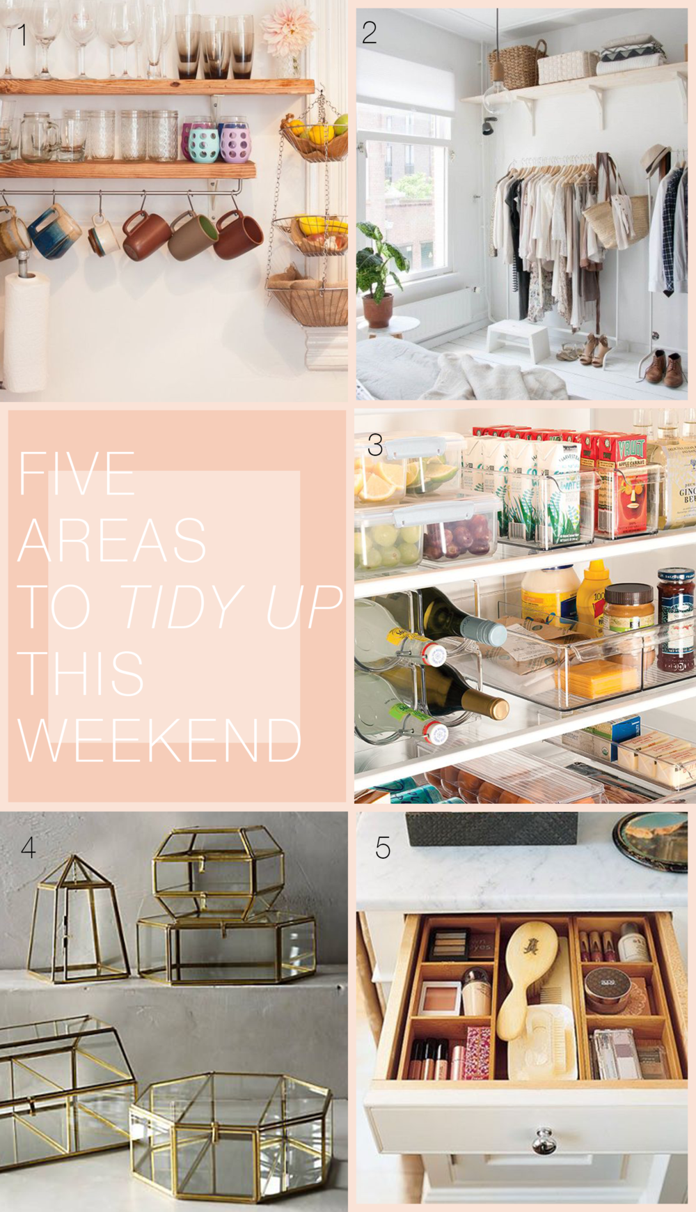 Five Areas to Tidy Up This Weekend via allthedelights.com