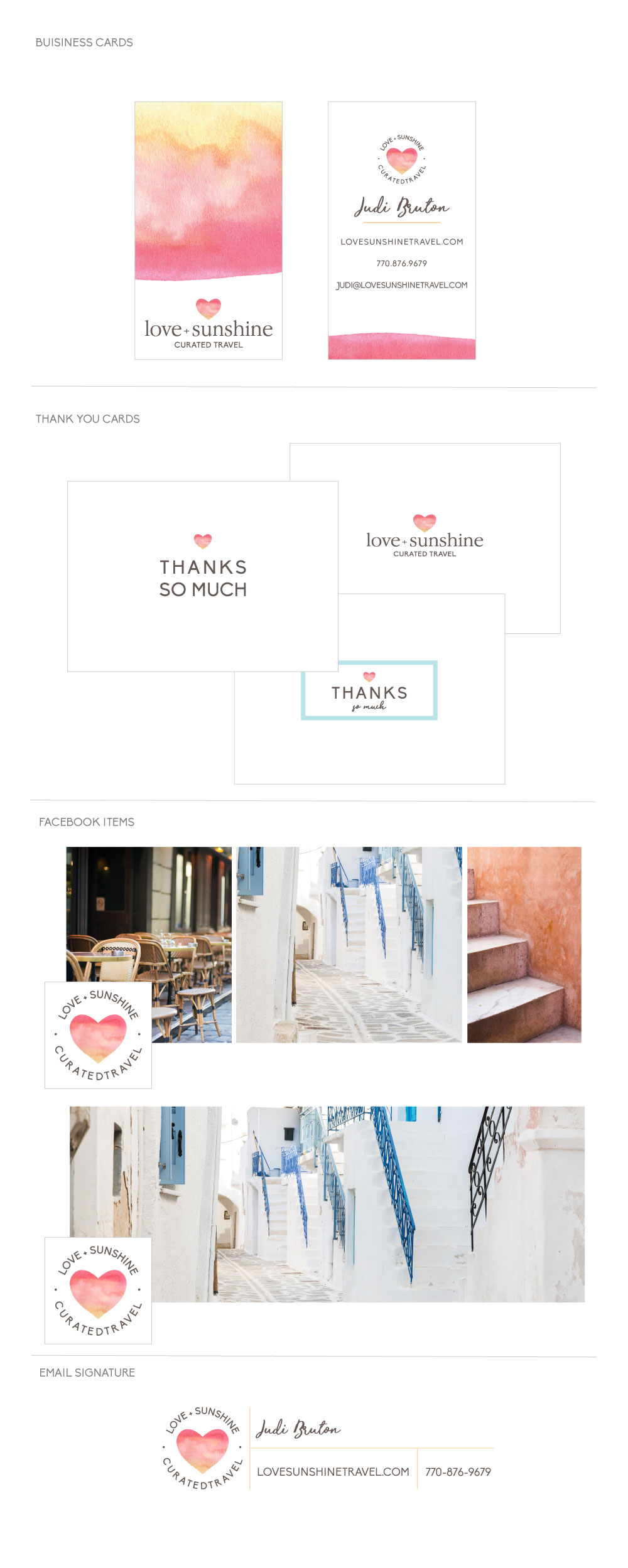 Love + Sunshine Collateral by All the Delights Design