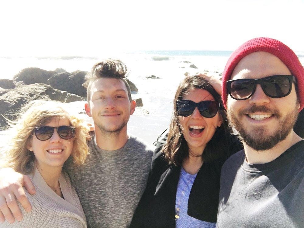 Rachel, Jacob, Me, and Matty in Malibu.