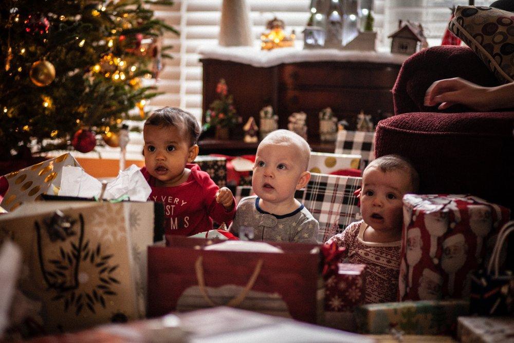 Zuri, Moshe, and Avery on Christmas morning!