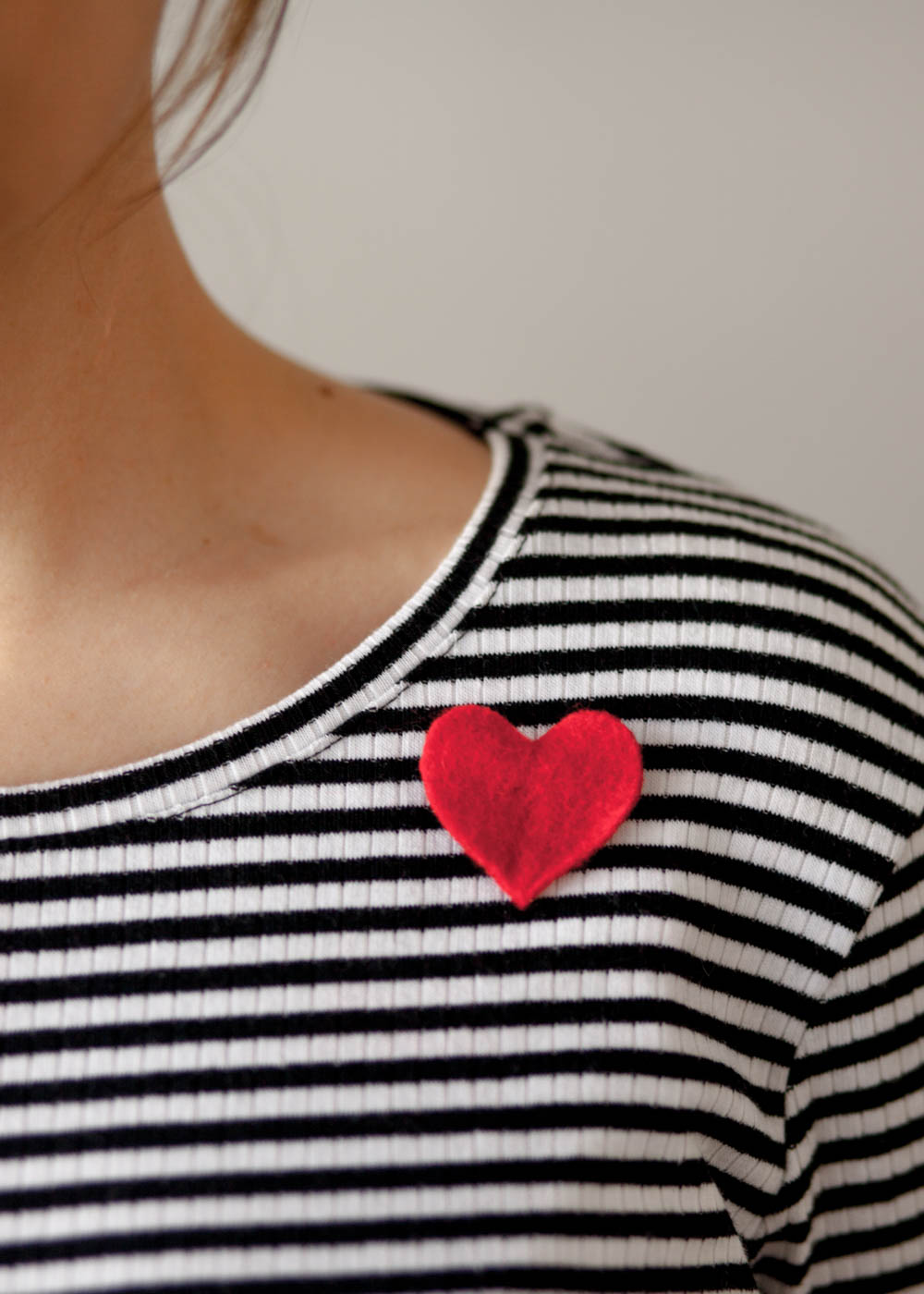 Heart Pin | DIY Valentines