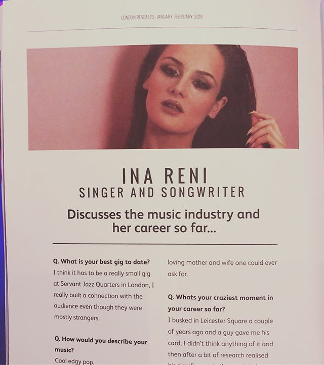 Grab your copy of @londonrevealed magazine and read the full interview📰✨🍑 #print #interview #london (ps: my wording has been slightly changed, I m not releasing an album but an EP;))