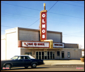 The Olmos--before it became a XXX theater or later, a school for dental technicians.  Photo Credit: CinemaTreasures